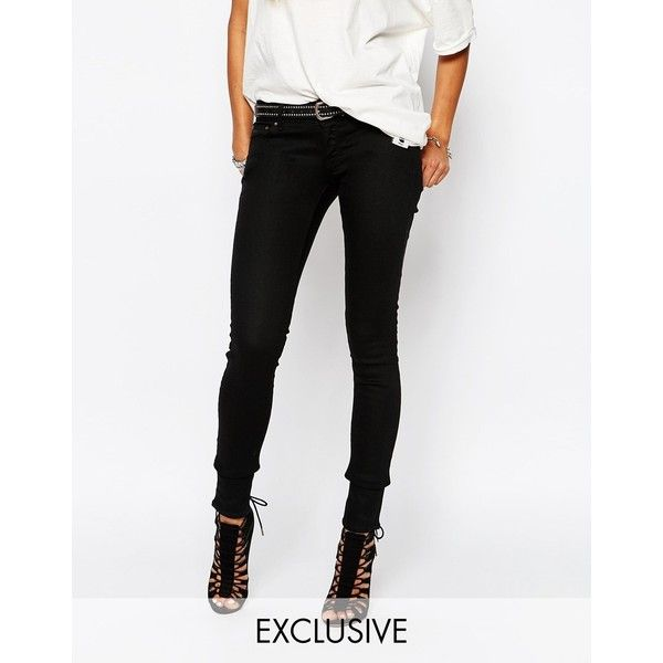 G Star Be Raw 3301 -A Low Super Skinny Jeans (92 CAD) ❤ liked on Polyvore featuring jeans, black, tall jeans, g star skinny jeans, tall skinny jeans, skinny jeans and 5 pocket jeans
