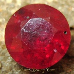 Round Cut Red Ruby 2.06 carat
