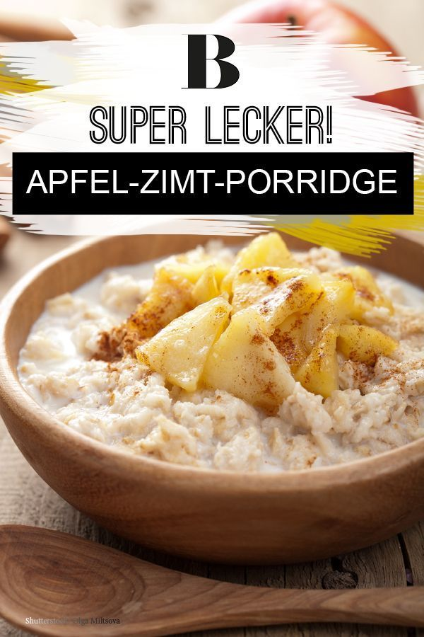 Apple and Cinnamon Porridge: For anyone looking for a quick, …