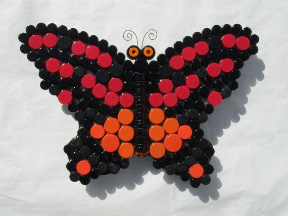Arte da borboleta para pátio ou jardim ao ar livre ou Bottle Cap Indoor Wall Art