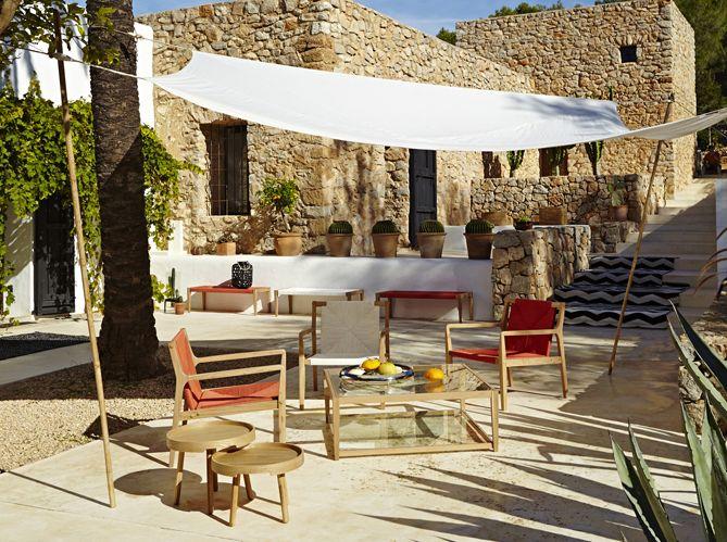 #sud #provençal #pierre #cactus #table #fauteuil #extérieur