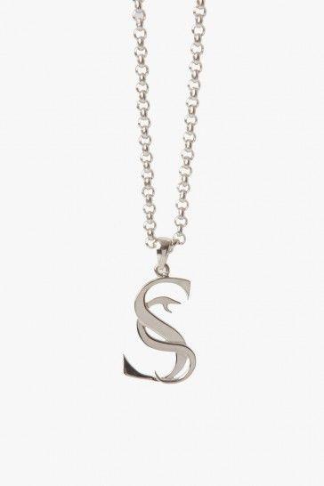 Stolen Girlfriends Club Jewellery / S-Logo Pendant - Silver / Pendants - Superette