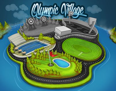 "Check out new work on my @Behance portfolio: ""Olympic Village"" http://on.be.net/1OuXVnt"