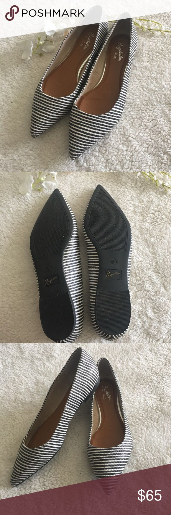 FLASH SALE❗️Anthropologie Seychelles Flat * In excellent condition! * Leather upper * Man made materials  * Beautiful textured stripe pattern  * Cushioned insole * No trades, please *  1016sw Anthropologie Shoes Flats & Loafers