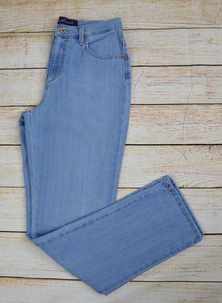 Gloria Vanderbilt Amanda Women S Straight Leg Jeans Denim Pant Light