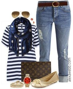 Plus Size Outfit Idea - Plus Size Boyfriend Jeans Outfit - Plus Size Fashion for Women - alexawebb.com #alexawebb #plus #size