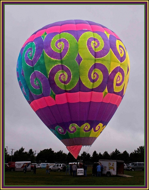 Tie-Dye was the theme for the 25th annual Atlantic Hot Air Balloon Festival in Sussex, New Brunswick, Canada.