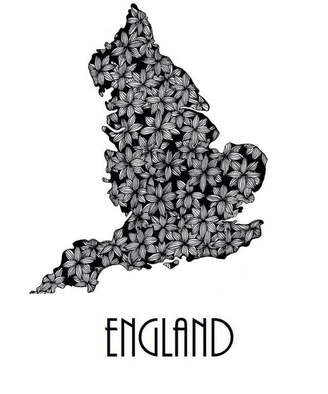 England poster, available on my Webshop