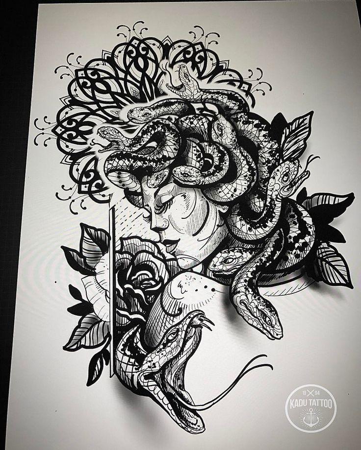 E quem disse q a Medusa só pode ter cara de brava??!! Ta ai a Medusa super sexy kkkk!! , . Desenho disponível com valor bem baixo ! . .  Contato para orçamento e agendamento no tel 27 999805879 com bruno de segunda a sexta de 8 as 18 hs ! NAO RESPONDEMOS DIRECT . . #kadutattoo #tattoo #tattoos #tattoo2me #tatuagens  #medusa #mandala #snake #sketch #rascunho #drawing #ipad #ipadpro #apple #applepencil #procreateapp
