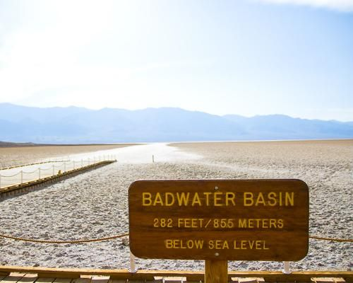 Death Valley's Badwater Basin is an endorheic basin, noted as the lowest point in North