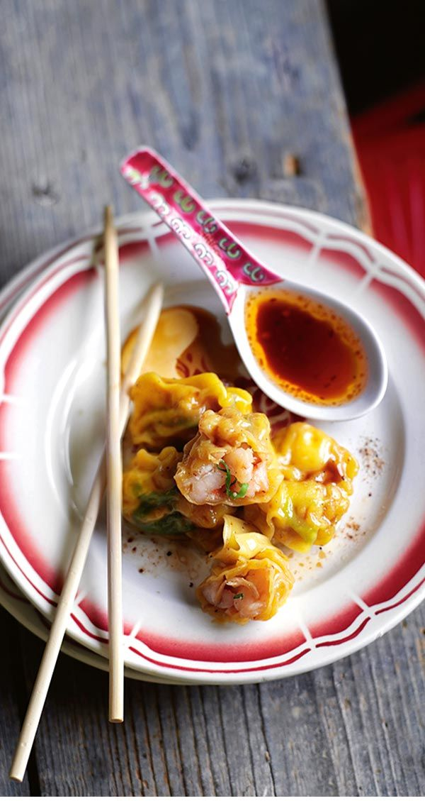 Jamie's Boiled Prawn Wontons With Chilli Dressing Recipe   Woolworths