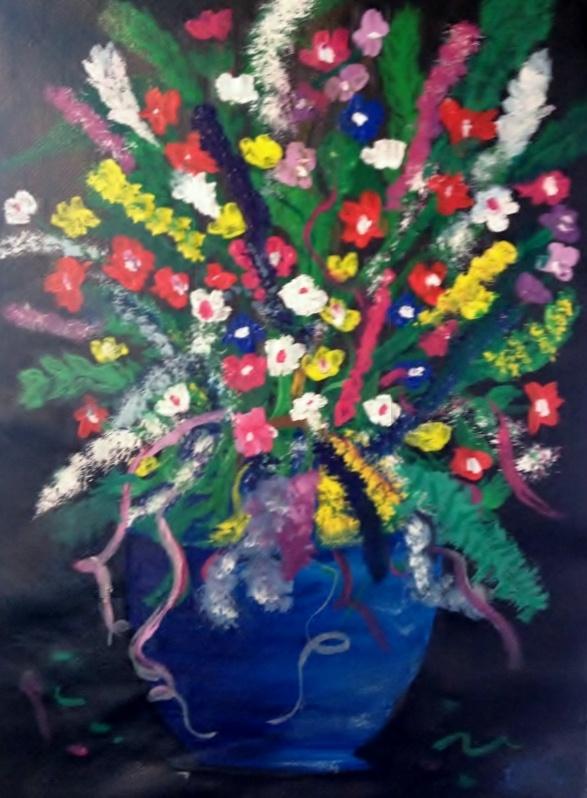 "Wildflowers  Acrylic on 9"" x 12"" canvas  April 10/13"