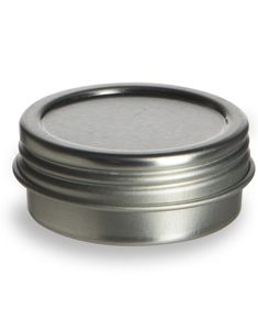 Specialty Bottle - 1/2 oz Flat Tin  Container with Screwtop Cover, $0.49 (http://www.specialtybottle.com/metal-tin-containers/screw-top/1-2oz-tsc1-2)