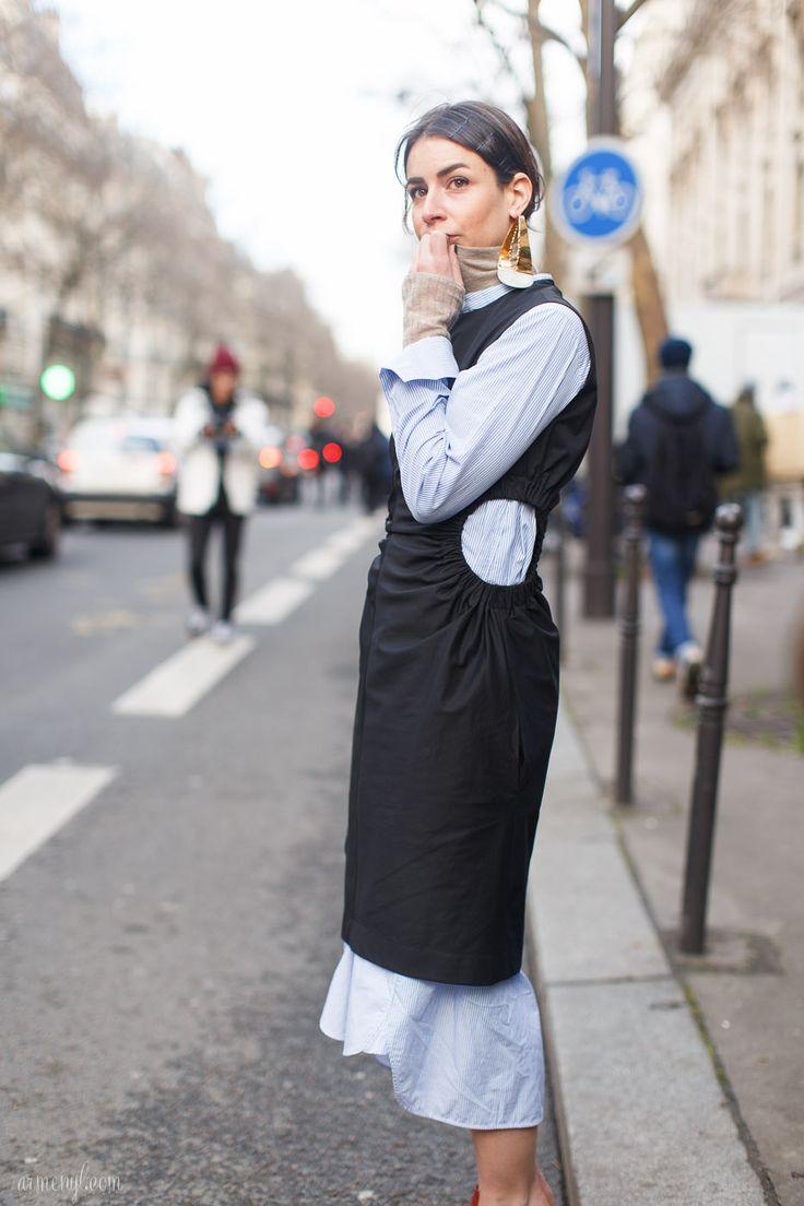 Irina Lakicevic Street style at Paris Fashion Week | Armenyl.com