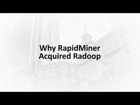 Why RapidMiner Acquired Radoop - YouTube