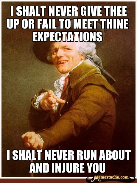 Joseph Ducreux - I shalt never give thee up or fail to meet thine expectations (Never gonna give you up!)