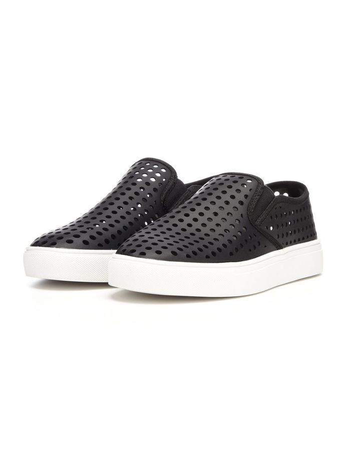 PUNCHED LOAFERS, Black, large