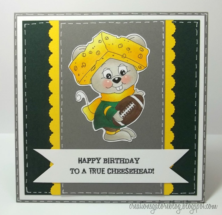 Creations Galore Blog: Creations Galore Presents: Peachy Keen Stamps & The Green Bay Packers