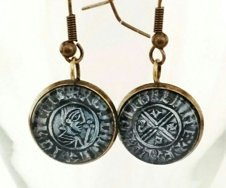 Irish Coin earrings, Ireland's first minted coin 997AD by CraftbyClara on Etsy