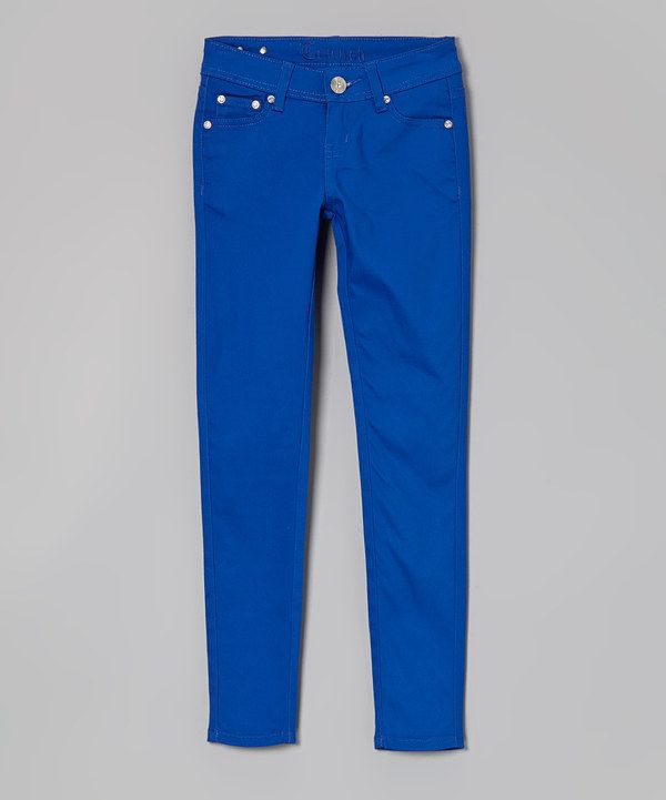 Look at this Royal Blue Skinny Pants - Girls on #zulily today!