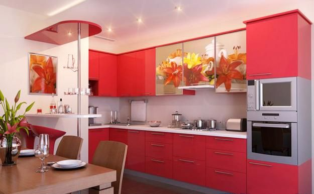 Best 20 red color combinations ideas on pinterest red for Kitchen design 49503