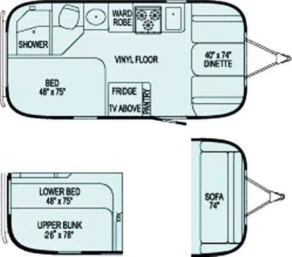 vintage travel trailer floor plans travel home plans ideas