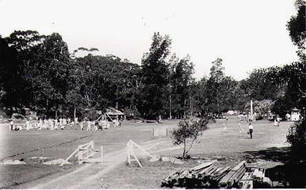 Sports grounds at Fairyland Pleasure Grounds, Lane Cove River, around 1920s
