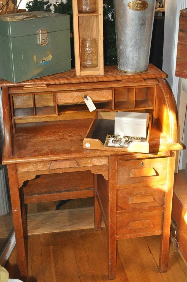Vintage child-size roll top desk - 51 Best Roll Top Resks Images On Pinterest Office Desk, Painted