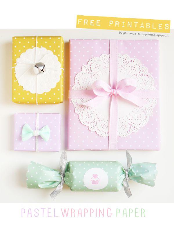 Ghirlanda di Popcorn: Freebies #12: Pastel Wrapping Paper