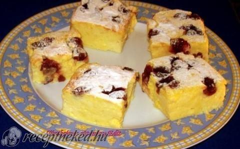 Túrókrémes sütemény recept fotóval