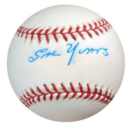 Sal Yvars Autographed NL Baseball
