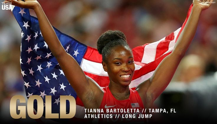 Tianna Bartoletta takes home the Gold Medal in the Long Jump at Rio Olympics 2016.
