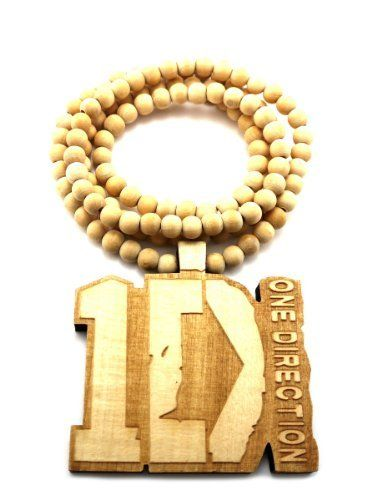 "Natural Wooden One Direction Pendant with a 36 Inch Beaded Necklace JOTW. $9.95. This cross pendant measures 3"" from left to right and 3"" from top to bottom.. 100% Satisfaction Guaranteed!. Great Quality Jewelry"