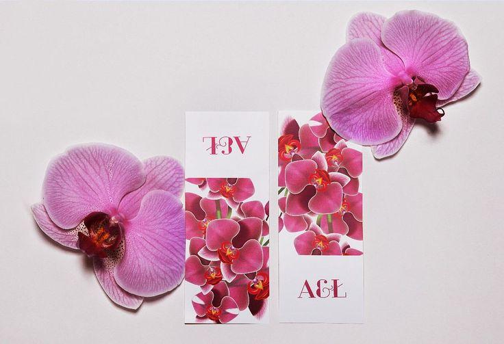 Naklejki ozdobne na kopertę z serii Orchidea