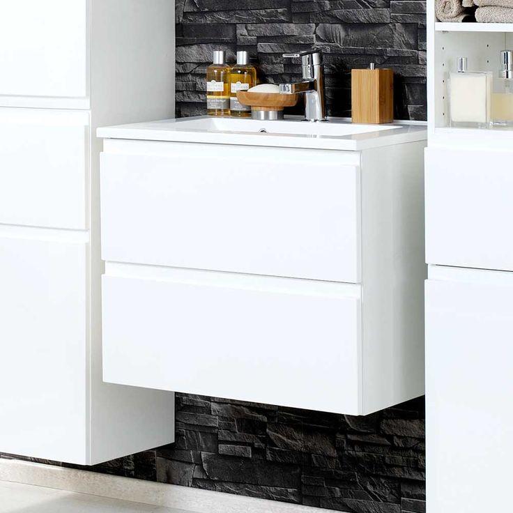 Die besten 25+ Waschbeckenunterschrank weiß hochglanz Ideen auf ...   {Badmöbel weiss modern 96}