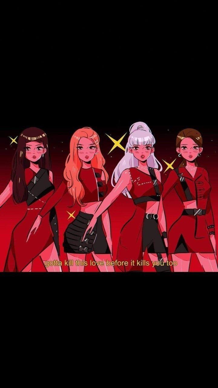 Background Blackpink Anime Wallpaper