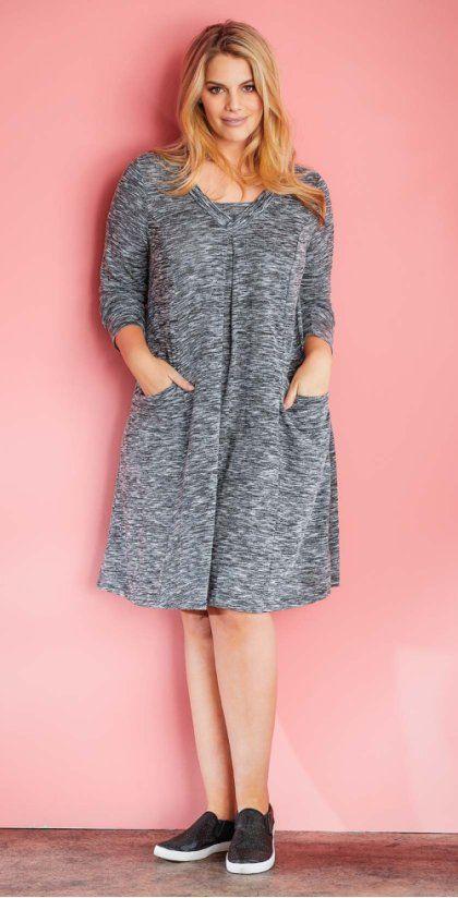Женская базовая одежда больших размеров от bonprix.ru!