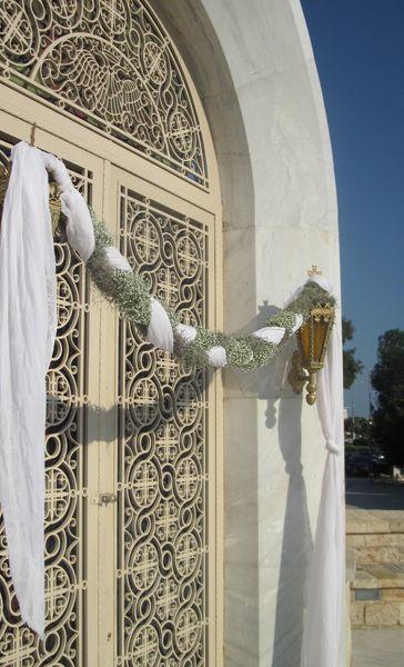 ::Διακόσμηση εκκλησίας με πλεξούδα από γυψοφύλλη - Αγ. Κωνσταντίνος/Γλυφάδα