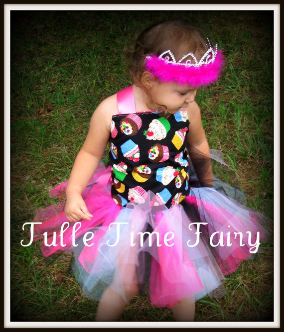 Custom Cupcake TUTU Birthday party dress 12m 18 2t 3t by Tulletime, $35.00