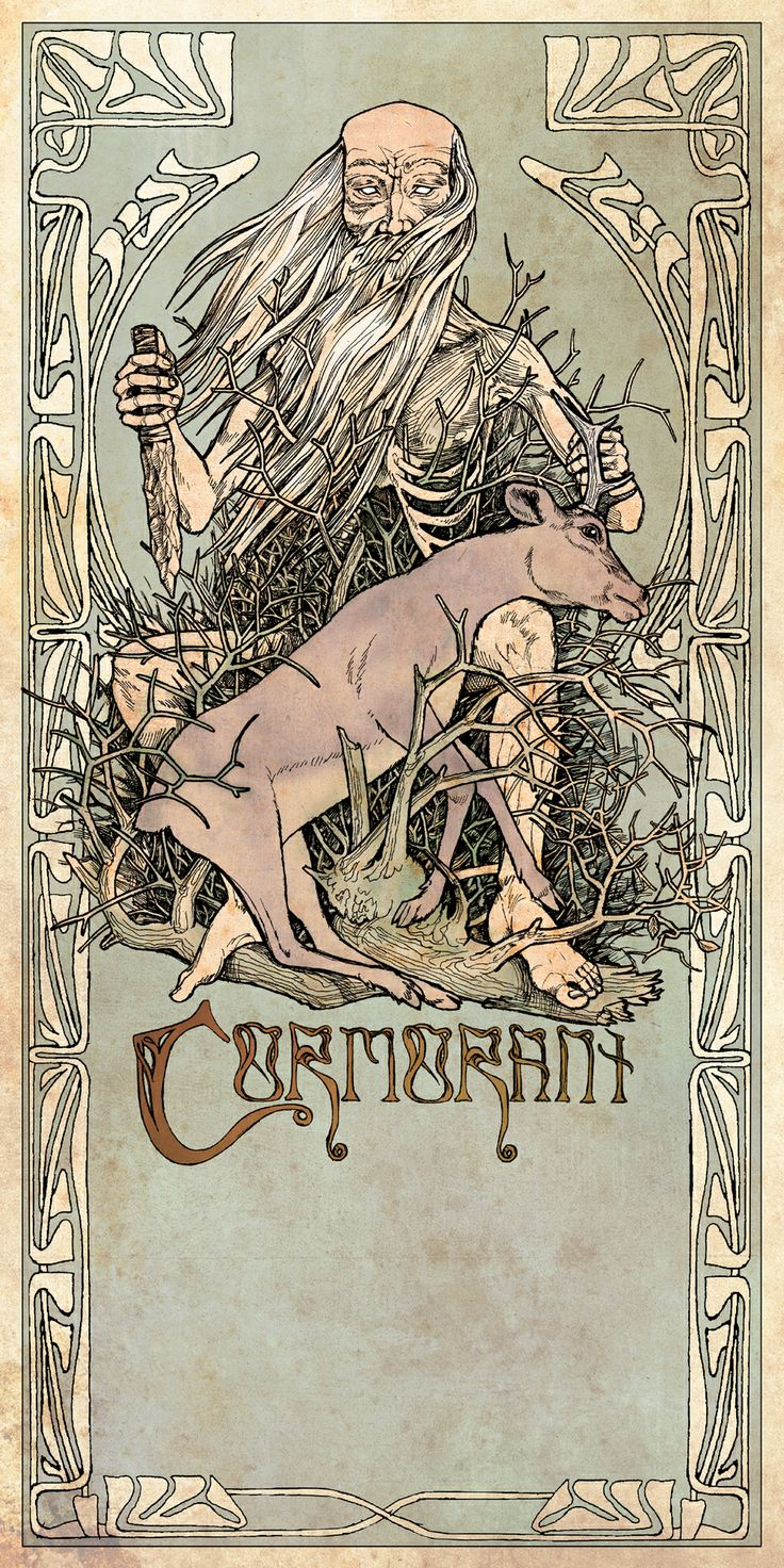 Poster design for the Bay Area metal band, Cormorant. cormorant.bandcamp.com