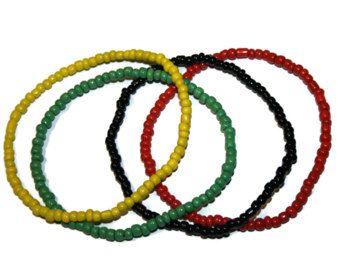 Jamaican Bracelets Rasta Bracelet Rastafarian Jewelry Rasta Bracelet for Her Man Jewelry Ethnic Bracelet Handmade Bracelet Tribal Jewelry
