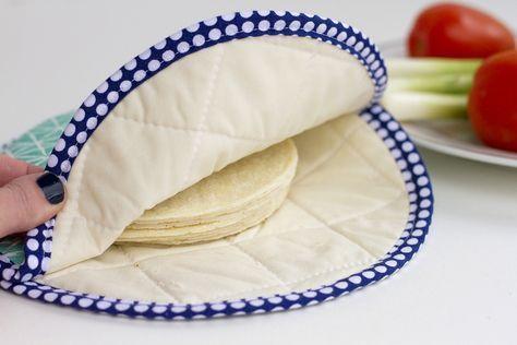 Fabric Tortilla Warmer tutorial (it's microwaveable too!)