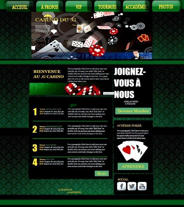 Site Web by Steeve Girard, via Behance