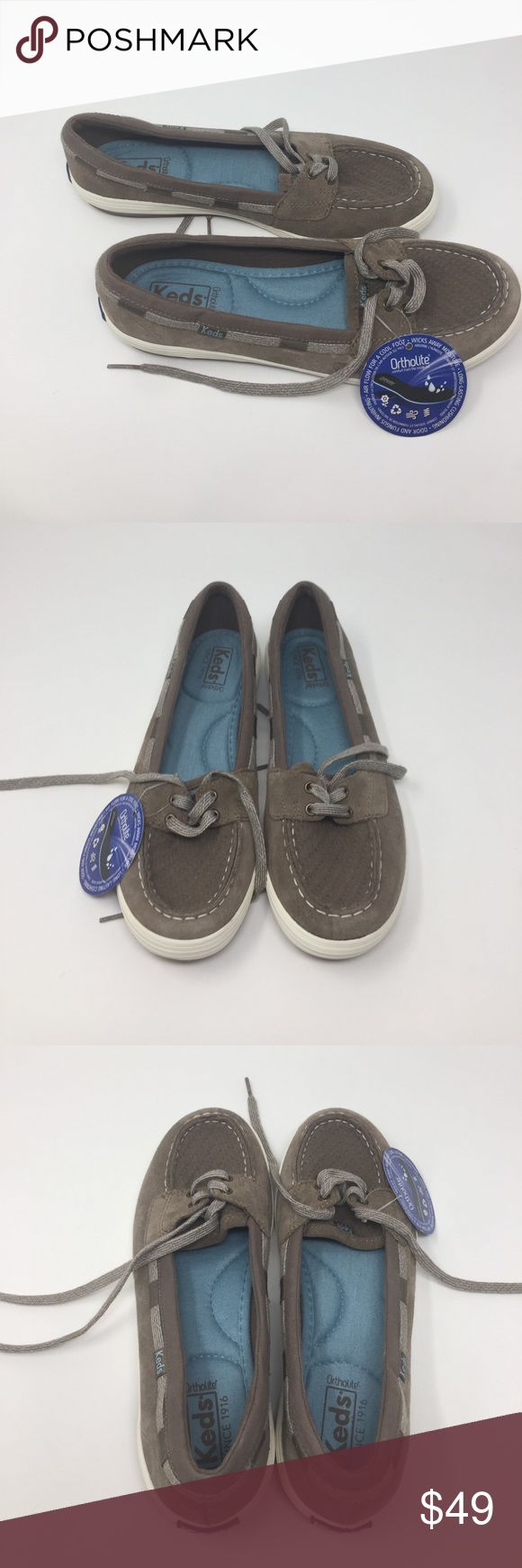 Women's keds glimmer slip on boat shoe size8 a2box These are women's shoes new without box or tags in real good condition keds women glimmer slip on boat shoe tan wh55879 e16-61419 size 8 keds Shoes Flats & Loafers