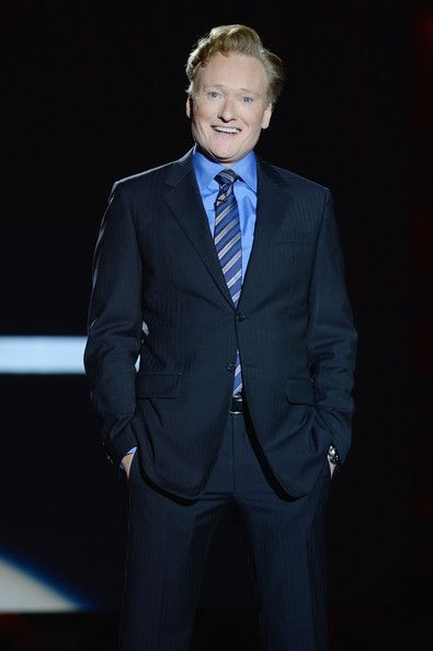 Conan O'Brien in blue to the TBS/TNT Upfront Presentation. #suits