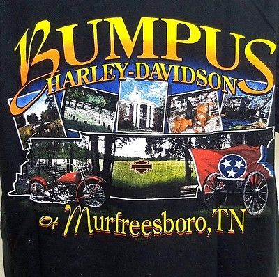 Bumpus HARLEY DAVIDSON Murfreesboro Tennessee Motorcycle Graphic T-Shirt Medium