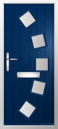 composite door example of curve in blue high quality secure and in your