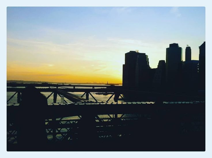 The greatest city in the world as the sun goes down.