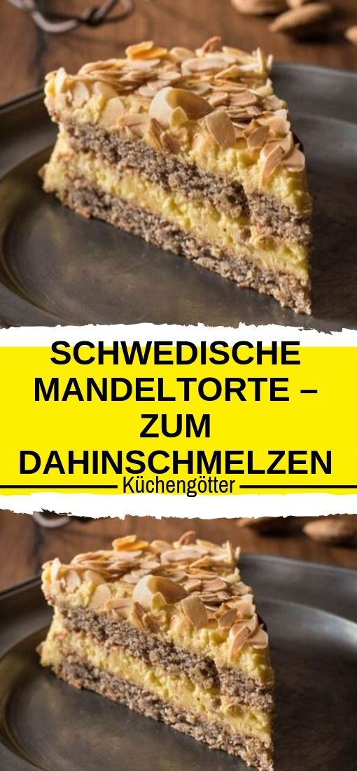 Zutaten: Für die Mandelböden 2 × 4 Eiweiß (M) 250 g Mandeln mit Haut * 180 g Z …