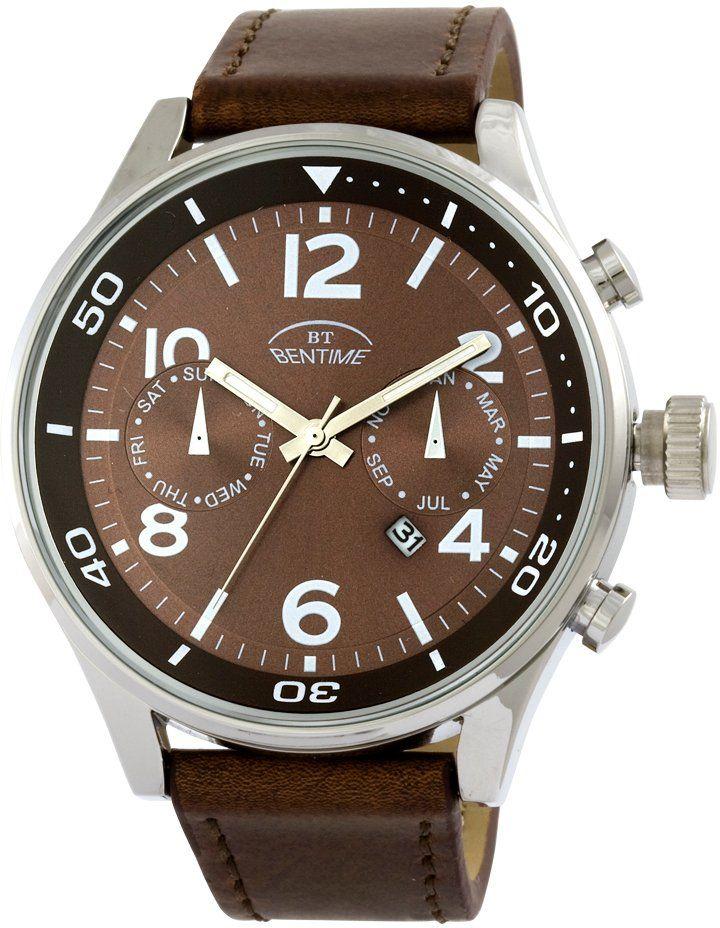 Pánské hodinky Bentime 006-FM1276A s pouzdrem o průměru 48 mm mají moderní sportovní design, který skvěle doplní denní outfit. Pouzdro má ciferník s indexy i čísly s minerálním sklíčkem, ukazatelem data a sekundovkou. Hodinky jsou vlhkotěsné.